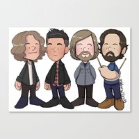 Dave, Brandon, Mark, And… Canvas Print