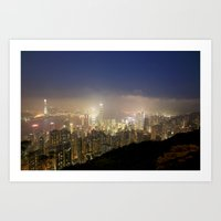 Hong Kong Night View 201… Art Print