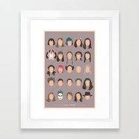 25 FACES OF NATALIE Framed Art Print