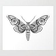 Art Print featuring Black Butterfly by Julia Badeeva