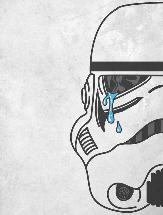Tears of the Trooper Art Print