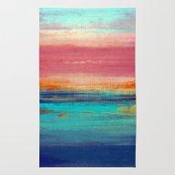 Rug featuring Retro Sunset by Liz Moran