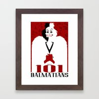 101 Dalmatians (Movie Po… Framed Art Print