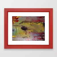 Yellow on Red Framed Art Print