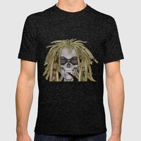 Jamaican Skull Mens Fitted Tee Tri-Black SMALL