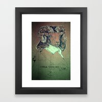 I think; therefore I ram. Framed Art Print