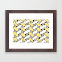 Basket Weave Framed Art Print