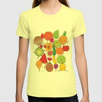 Veggies Fruits Womens Fitted Tee Lemon SMALL