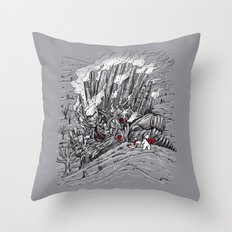 The Smog Monster Throw Pillow