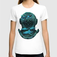 Deep Diving Womens Fitted Tee White SMALL