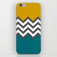 Color Blocked Chevron iPhone & iPod Skin