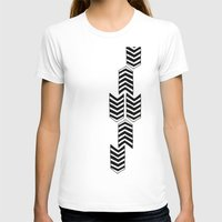 ARROW RAIN Womens Fitted Tee White SMALL