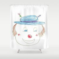 Childhood Drawings (clown) Shower Curtain