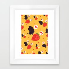 the death loves the strawberry Framed Art Print