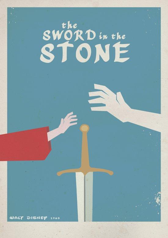 The Sword in the Stone - Walt Disney Minimal Movie Poster Art Print