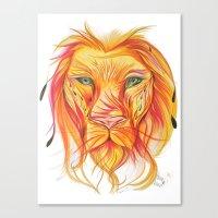 Sun Lion  Canvas Print