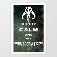 Boba Fett. Keep Calm. Art Print