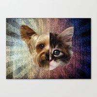 CatDog 2 Canvas Print