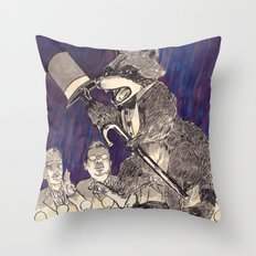 Dapper Raccoon Throw Pillow