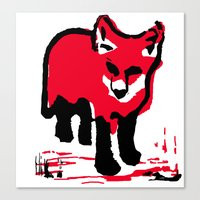 Red Fox Stamp Canvas Print