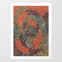 Ink Pattern No.2 Art Print