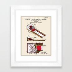 Skee Ball Patent Framed Art Print