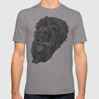 Lion Mens Fitted Tee Tri-Grey SMALL