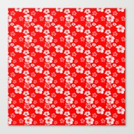 Red And White Turtles Ha… Canvas Print