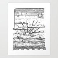 Voyage Incertain (uncert… Art Print