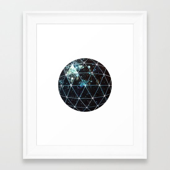 Galaxy Geodesic  Framed Art Print