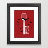 Framed Art Print featuring Fear And Loathing by BadOdds