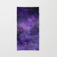 Purple Watercolor Space Pattern Hand & Bath Towel