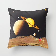 Western Space Throw Pillow