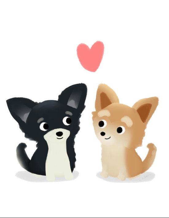 Chihuahua Love - Cute Dog Series Canvas Print