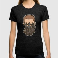 Blood Bag Womens Fitted Tee Tri-Black SMALL