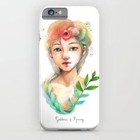 iPhone & iPod Case featuring Goddess of  Spring by Mini-Toki