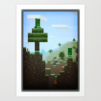 Pixel Art series 9 : Creep Art Print