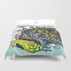 The Church is on Fire Duvet Cover