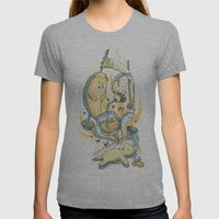 Honeysiiickle Womens Fitted Tee Athletic Grey SMALL