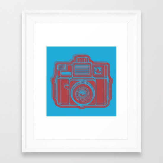 I Still Shoot Film Holga Logo - Blue & Red Framed Art Print