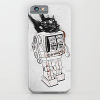 iPhone Cases featuring robot army by Tom Kitchen