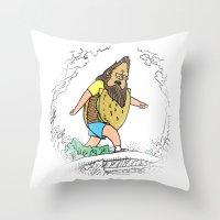 Beefsquatch Throw Pillow