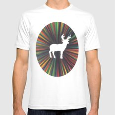young deer SMALL White Mens Fitted Tee