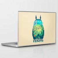 anime Laptop & iPad Skins featuring He Is My Neighbor by Victor Vercesi