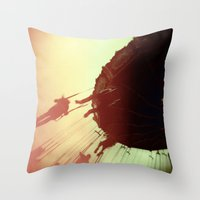 Swings and Light Leaks Throw Pillow