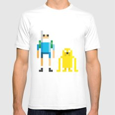Finn & Jake Mens Fitted Tee White SMALL