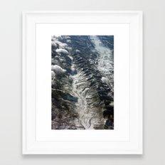 Dip Into The Rocks Framed Art Print