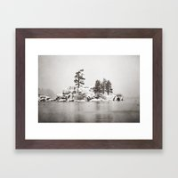Winter Lake  Framed Art Print
