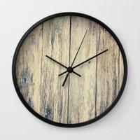 Wood Photography II Wall Clock