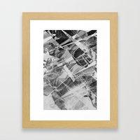 Marble X Framed Art Print